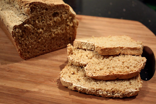 Whole Grain Beer Bread vegetarian side dish peanut butterless bakery