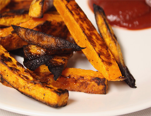 Butternut Squash Fries vegetarian snack side dish peanut butterless low carb gluten free