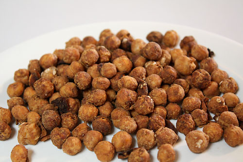 Peanut Roasted Chickpeas vegetarian snack peanut butterless gluten free