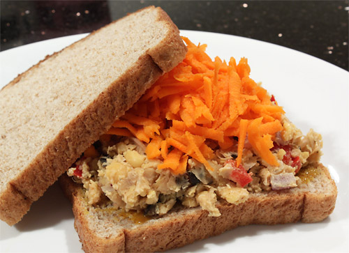 Smashed Chickpea Salad Sandwich vegetarian peanut butter main course gluten free