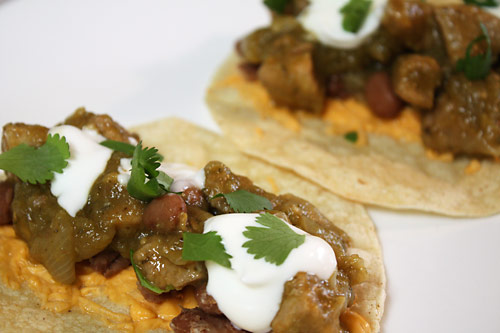 Chile Verde Tacos peanut butterless mexican main course gluten free