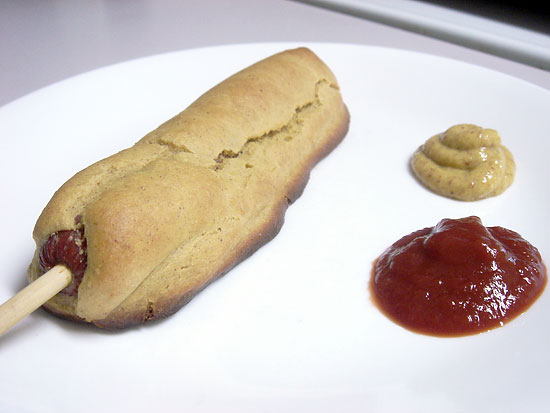Baked Peanut Butter Corndog snack peanut butter main course