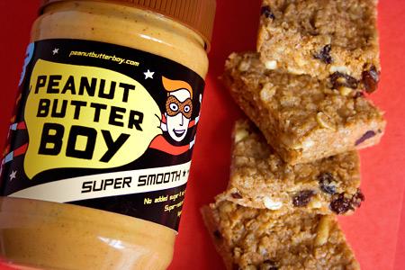 Gluten Free Peanut Butter Granola Bars vegetarian snack peanut butter gluten free breakfast