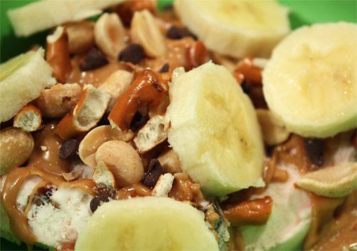 Monkey Sundae vegetarian snack peanut butter dessert
