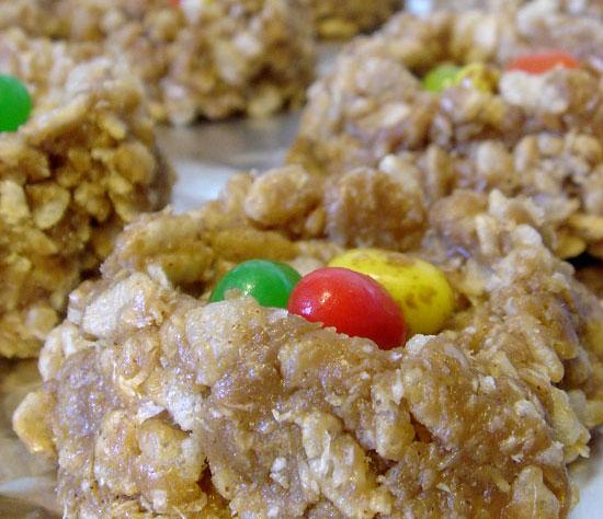 Birds Nest Cookies vegetarian peanut butter gluten free dessert