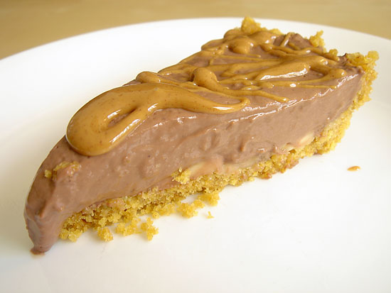 Chocolate & Triple Peanut Butter Pie vegetarian snack peanut butter gluten free dessert bakery
