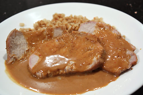 Spicy Peanut Butter Pork Roast peanut butter main course low carb
