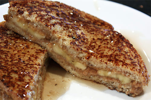Peanut Butter Stuffed French Toast vegetarian peanut butter breakfast