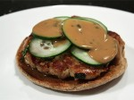Tuna Burgers with Peanut Dressing