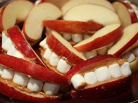 Peanut Butter Apple Mouths