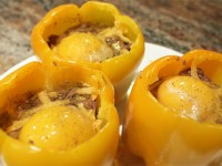 Beef and Egg Stuffed Peppers