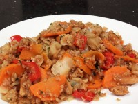 Cabbage, Carrot and Peanut Bulgur