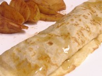 Apple Pie Crepes with Cinnamon Apple Peanut Butter