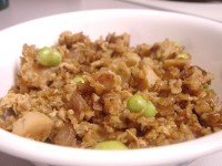 Fried Bulgur with Edamame Peas
