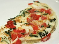 Fresh Mozz, Tomato and Basil Omelet