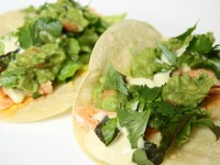 Salmon Tacos with Honey Mustard Sauce