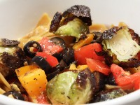 Tomato, Olive and Brussels Pasta