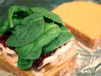 Turkey and Cranberry Cream Cheese Sandwich