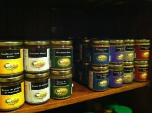 An excellent selection of nut butters at J.A. Maison!