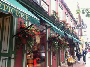 J.A. Maison, a gourmet shop on Rue St. Jean in Quebec City, was by far the best food store we found. We ate lunch here by getting bread, sliced meats and cheeses at the counter. It&#039;s also where I got some of the peanut butter below!